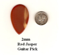 Red Jasper Teardrop Guitar Picks