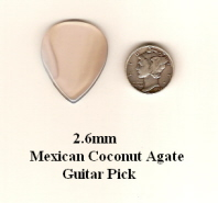 Mexican Coconut Agate Standard Guitar Picks