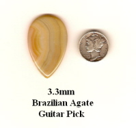Brazilian Agate Teardrop Guitar Picks