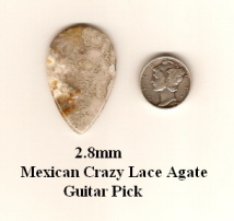Crazy Lace Agate Teardrop Guitar Picks
