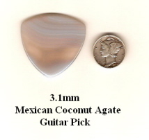 Mexican Coconut Agate Bass Guitar Picks