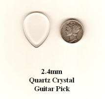 Quartz Crystal Teardrop Guitar Picks
