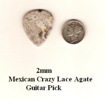 Crazy Lace Agate Standard Guitar Picks