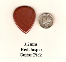 Red Jasper Standard Guitar Picks