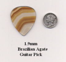 Brazilian Agate Standard Guitar Picks