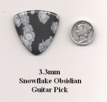 Snowflake Obsidian Bass Guitar Picks