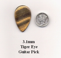 Tiger Eye Teardrop Guitar Picks