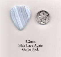 Blue Lace Agate Standard Guitar Picks