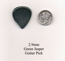 Green Jasper Standard Guitar Picks