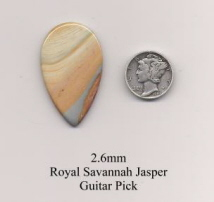 Royal Savannah Jasper Teardrop Guitar Picks