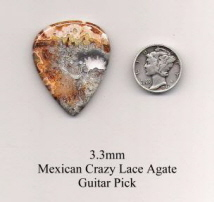 Mexican Crazy Lace Agate Standard Guitar Picks