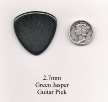 Green Jasper Bass Guitar Picks